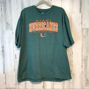 Univ of Miami Hurricanes Colosseum T-shirt Sz XXL